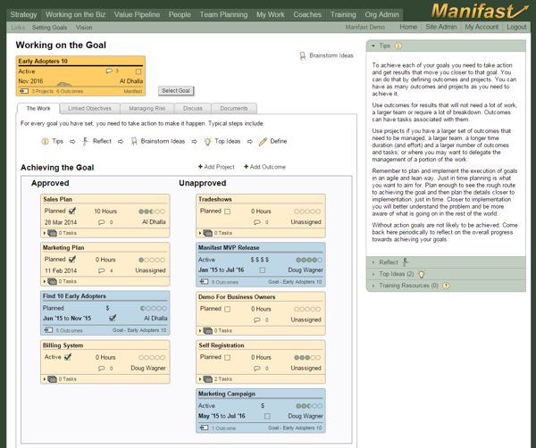 Screenshot of the Manifast Tool